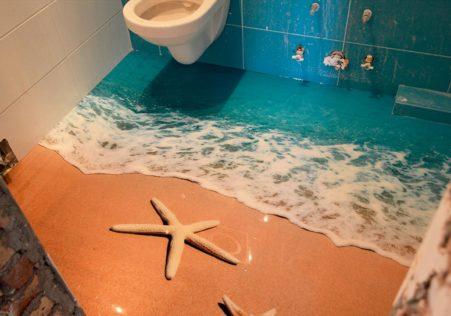 3d наливной пол в ванной