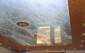 фактура мрамор натяжного потолка