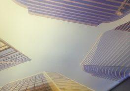 Уникальный потолок в квартире на Варшавском шоссе 8 м²