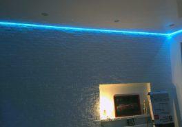 Установка парящего потолка в комнату 18 м²