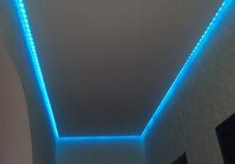 Установка потолка в коридоре площадью 8 м²
