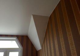 Мансардные потолки в частном доме 130 м²