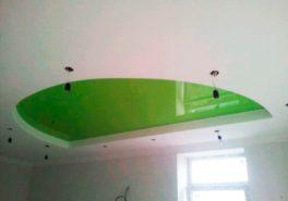 Установка натяжных потолков в коттедже в Битягово 35 м²