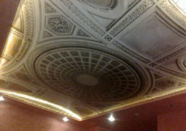 Натяжной многоуровневый 3D потолок в квартире на Профсоюзной улице