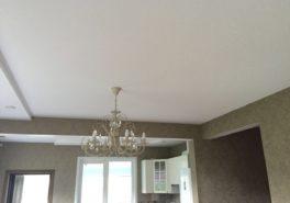 Тканевые натяжные потолки в частном доме