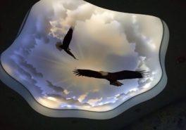3D потолок в квартире на Мосфильмовской